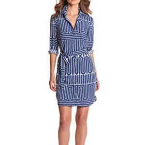Trina Turk Janny Geo Shirt Dress